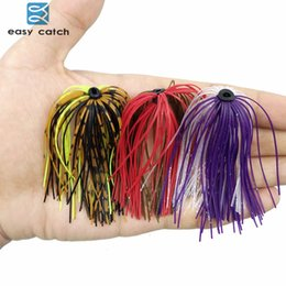 $enCountryForm.capitalKeyWord Australia - jig Easy Catch 20pcs Mixed Color Fishing Jig Skirts 50 Strands Silicone Skirt Wire With Ring Fly Tying Rubber Material