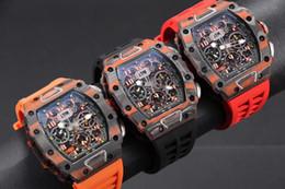 $enCountryForm.capitalKeyWord Australia - Luxury men's automatic mechanical watch TPT carbon fiber case relojes de lujo para hombre men watch mens designer watches