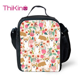 $enCountryForm.capitalKeyWord Australia - Thikin Flower Animals Cooler Lunch Box Portable Insulated Lunch Bag Tote PouchThermal Picnic Bags For Women Kids