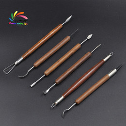 engrave tools Australia - 6 PCS Set Pottery Ceramics Tools Polymer Clay Modeling Tools Wax Carving Sculpt Tool