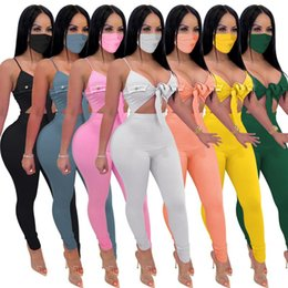 overall jumpsuits Australia - Sexy Backless Clubwear Jumpsuit Sleeveless Lace Up Bikini Long Pants One Piece Summer Outfits Overalls Skinny Bodysuit Romper