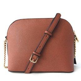 Luxury Chains Australia - Free shipping 2018 brand fashion luxury designer handbags shell bag cross pattern synthetic leather chain bag shoulder Messenger bag 3A