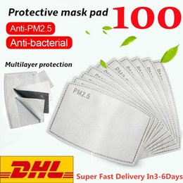 Face mask anti-fog mask PM2.5 filter replaceable filter 5 layers non-woven activated carbon dust-proof anti-fog filter mask gasket on Sale