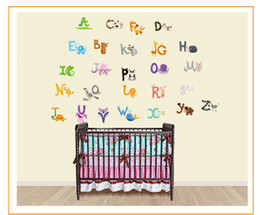 $enCountryForm.capitalKeyWord Australia - 26 letters A-Z Alphabet&Animals Wall Sticke home decoration English Vinyl Mural Stickers Decals Nursery for Kids Room Decor