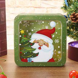 $enCountryForm.capitalKeyWord Australia - Creative Christmas Cartoon Candy Storage Box 2019 Snowman Square Tin Storage Organizer Biscuit Xmas Supplies Gifts Package