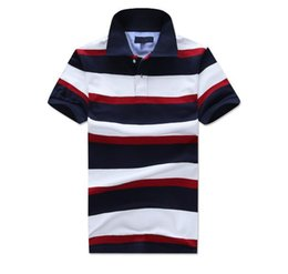 $enCountryForm.capitalKeyWord NZ - Famous US England style Designer 100% cotton man Golf stripe polo shirts camisa t-shirt popular Business causal men's Tom Tees polos
