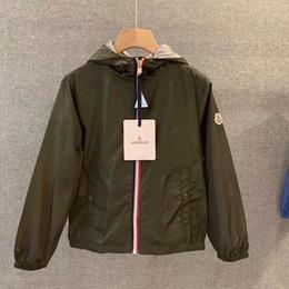 PoPular kids clothing brands online shopping - New Pattern Spring Autumn Designer Brand M Popular Clothes Kids Hoodies Jacket Pure Cotton Outdoor Wind Proof Zipper Boys Coat