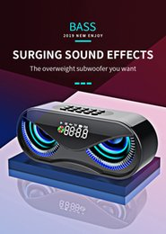 cool speakers UK - M6 Cool Owl Design Bluetooth Speaker LED Flash Wireless Loudspeaker FM Radio Alarm Clock TF Card Support Select Songs By Number