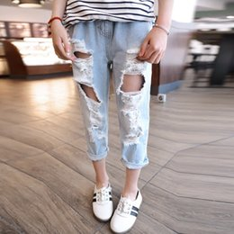 3d4e0f787b6 Brand Boys Girls Ripped Jeans Fashion Children Broken Hole Pants Summer  Casual Denim Trousers Jeans For Kids 2 3 4 5 6 Years Old
