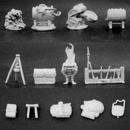 Vente en gros Jeu de société en plastique modèle Dragon et Donjon Scène 3cm Soldats Figure Blanc Modèle DIY Jouets Pour Enfants Unisexe Livraison Gratuite