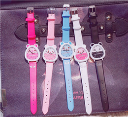 Wholesale Children s watch girl waterproof student cute primary school fashion model girl boy toy princess pink watch