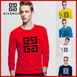 $enCountryForm.capitalKeyWord NZ - Tops Luxury Italy 2G Fashion design Red green stripes printing man long sleeve cotton Hip-hop tee t shirts for mens womens tshirts clothing