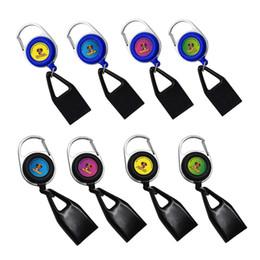 Hornempuff 3 Renk Siyah / Mavi / Beyaz Çakmak Kapak Güvenli Stash Klipsi Geri Çekilebilir Anahtarlık Sigara Aksesuarları Kullanımı Kolay