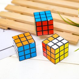 Wholesale Educational Games Kids NZ - Magic cube Puzzle Cube Toys 3x3x3 Educational Classic Solid for children boys kids birthday gift intelligent game DHL FJ322