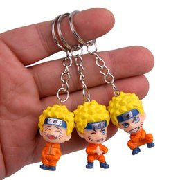 $enCountryForm.capitalKeyWord Australia - 3pcs per lot Naruto Uzumaki keychain Japanese Anime keychains Naruto figures pendants keychains for cars keys action figures