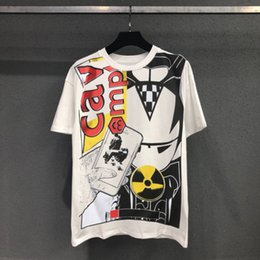 Discount s mobile - Japanese Tide Brand CAV EMPT Cotton Short Sleeved Tshirt Racing Mobile Phone Iron Man Loose Round Neck Tshirt