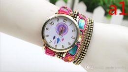 Chain Wrist Watches For Women Australia - fashion women bracelets watch ladies Dreamcatcher rivets leather chain wrist watch Creative quartz watches for women