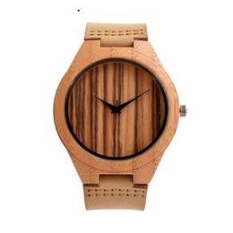 $enCountryForm.capitalKeyWord UK - Nature Wooded Bamboo Watch Men Handmade Full Wooden Creative Women Watches 2019 New Fashion Quartz Clock Festival Gift