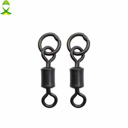 $enCountryForm.capitalKeyWord UK - swivel connector JSM 50pcs lot Matte Black Rolling Swivels With Ring Carp Rigs ice Fishing Swivel Connector Carp Fishing hooks tackle