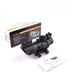 $enCountryForm.capitalKeyWord Australia - Holy warrior 4X tactical Optical Sight Red Illuminated Rifle Scope Quick Detach Hunting Scopes for Airsoft Weaver Mount