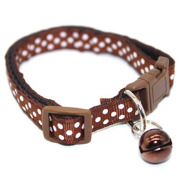 $enCountryForm.capitalKeyWord Australia - 1.0cm Patch Bell Netting Buckle Pet Cat Dog Collar Puppy Collar for pug small pet dog cat drop shipping