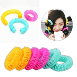 Curl Hair Home Australia - Doughnut Hair Rollers Plastic Hair Curler Not Hurt Hair Self Adhesive Curling Tool Hairstyle Tools Large Size