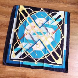 Scarf Shops Australia - New spring silk scarf promotion ladies scarf fashion geometric pattern holiday gifts wholesale wholesale 180x90cm, free shopping
