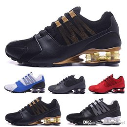 $enCountryForm.capitalKeyWord Australia - New Shox R4 men women running shoes top quality OG triple black white RACER BLUE COMET RED mens trainers fashion sports sneakers