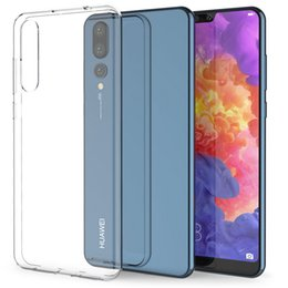 Crystal gel Case online shopping - For Huawei P20 P20 Pro iPhone X XR Xs Max Case Crystal Clear Transparent Silicone Gel Phone Cover
