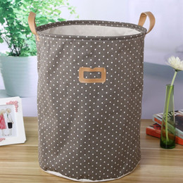 bamboo clothes storage UK - new Non-woven fabric folding underwear storage box Bedroom Basket organizer for Kids toys Dirty Clothes laundry storage bag