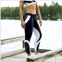 $enCountryForm.capitalKeyWord Canada - 2019 Spring and Autumn New Type Geometric Honeycomb Digital Printing Jacquard Hip High Waist Sports Yoga Bottom Pants