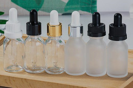 Chinese  15ml glass dropper bottle vape e liquid perfume essential oil bottle clear frosted amber blue green with gold silver white cap china manufacturers