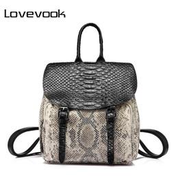 High Quality Backpack Brands Australia - LOVEBOOK brand fashion women backpack high quality female shoulder bag with serpentine prints mini backpack for teenage girls