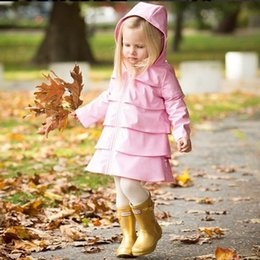 Wholesale Toddler Outerwear NZ - Toddler Fashion Kids Baby Girls Autumn Winter Jacket Hooded Zip Windbreaker Tops Rain girls jackets Children Warm Outerwear Coat