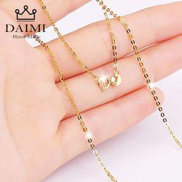 $enCountryForm.capitalKeyWord NZ - Daimi Genuine 18k White Yellow Gold Chain Necklace Pendant 18 Inches Au750 Jewelry Necklace Women Fine Gift Wholesale J190629