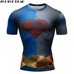 sports 3d tees NZ - Superhero 3D t shirt Men Compression Short Sleeve T-shirt Sports Quick Dry Tops Bodybuilding Fitness Tshirts Crossfit Brand Tee