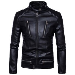 punk biker clothing Australia - Autumn Motorcycle Bikers Jackets Mens Faux Leather Coat Zipper Overcoat Motor Jacket Outwear Cashmere Tops Brand Clothing 2018 SH190825