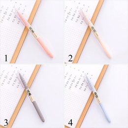 $enCountryForm.capitalKeyWord NZ - 4Pcs Cute Candy Color Gel Pen 0.5mm Novetly Pens Black Neutral Pen For Kids Girls Gift Writing School Supplies Office Stationery