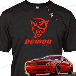muscle cars NZ - DODGE CHALLENGER SRT DEMON WIDE BODY MUSCLE CAR ADULT COTTON T NEW