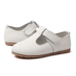 Girl shoes for dresses online shopping - New White Flower Girls Genuine Leather Dress Shoes For Toddler Girls Spring Princess Shoe Party And Wedding Single Shoes