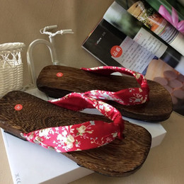 $enCountryForm.capitalKeyWord NZ - wooden slippers Round Toe Cosplay costume Flats Flip Flops wooden geta sandals clogs slippers women