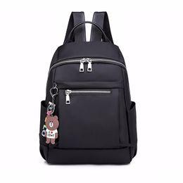 China Fashion Designer Nylon Women Backpack Large Casual Zipper School Bag For Teenage Girls Female Travel Bag Light Bagpack Rucksack J190528 cheap large backpacks for school suppliers