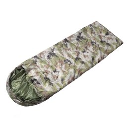 sleeping bags double winter Canada - Digital Camouflage Sleeping Bag Outdoor Envelope Expands Adult Camping Camping Camping Dirty Camouflage Sleeping Bag Camp Hiking Equipment