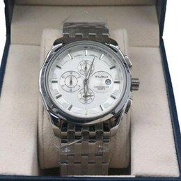 Circular Case Australia - Fashion non-mechanical watch steel case steel belt multi-functional steel watch circular genuine quartz 6-pin business men's watch