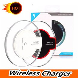 wholesale iphone cell phone docks Australia - Universal Qi Wireless Charger Pad for Samsung Galaxy S7 S6 edge Note 5 Qi Mobile Cell Phone Smartphone Charge Charging Dock