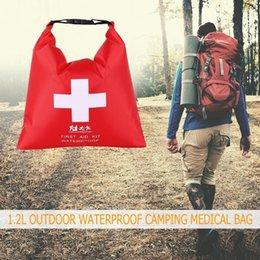 Emergency Packs Australia - Portable Emergency Medical Kits Soft 1.2L Outdoor Waterproof River Trekking Rafting Camping High qulity First Aid Bag #214434
