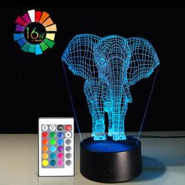 $enCountryForm.capitalKeyWord Australia - 40 piece lot 3D LED Desk Table Elephant Night Light Lamp 7 Color Touch Lamp Family Home Office Childrenroom Theme Decoration