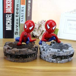 Wholesale The Avengers spiderman ashtray creative home decoration crafts furnishing articles office cartoon smoking set smoking accessories