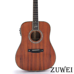 $enCountryForm.capitalKeyWord Australia - Top Quality Full Solid Koa Acoustic Guitar LYL0245YY Ablaone Inlay Ebony Fingerboard Bone Nut&Bridge&Saddle Fishman 301