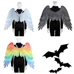 $enCountryForm.capitalKeyWord Australia - Mardi Gras Big Eagle Wings Costume Non Woven Fabrics angel Wing Adult Carnival Fancy Costume party Supplies T2I5328